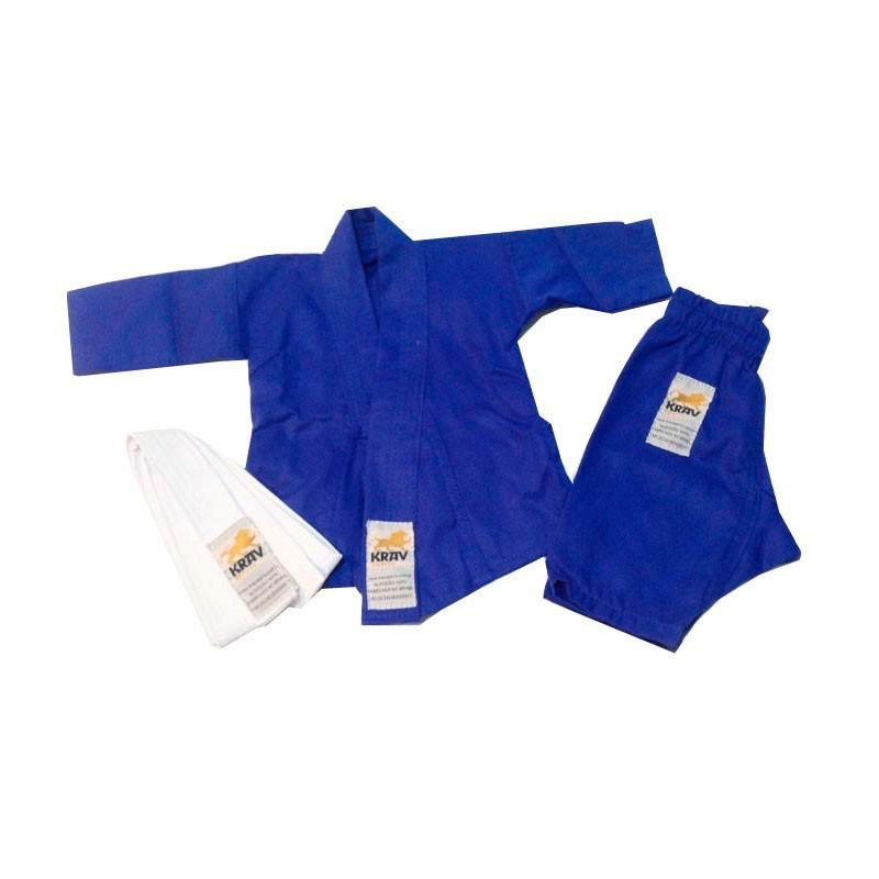 Kimono Judo krav Recém Nascido Azul Faixa Branca