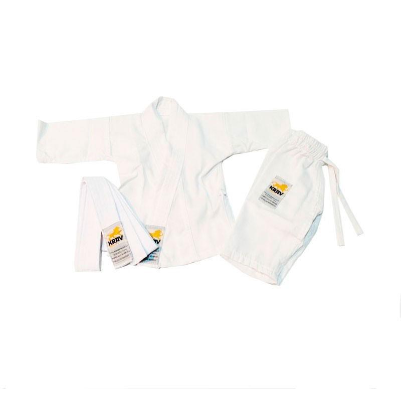 Kimono Judo krav Recém Nascido Branco Faixa Branca