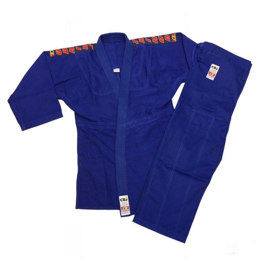 Kimono Judo Shihan Oficial CBJ Azul Adulto Unissex