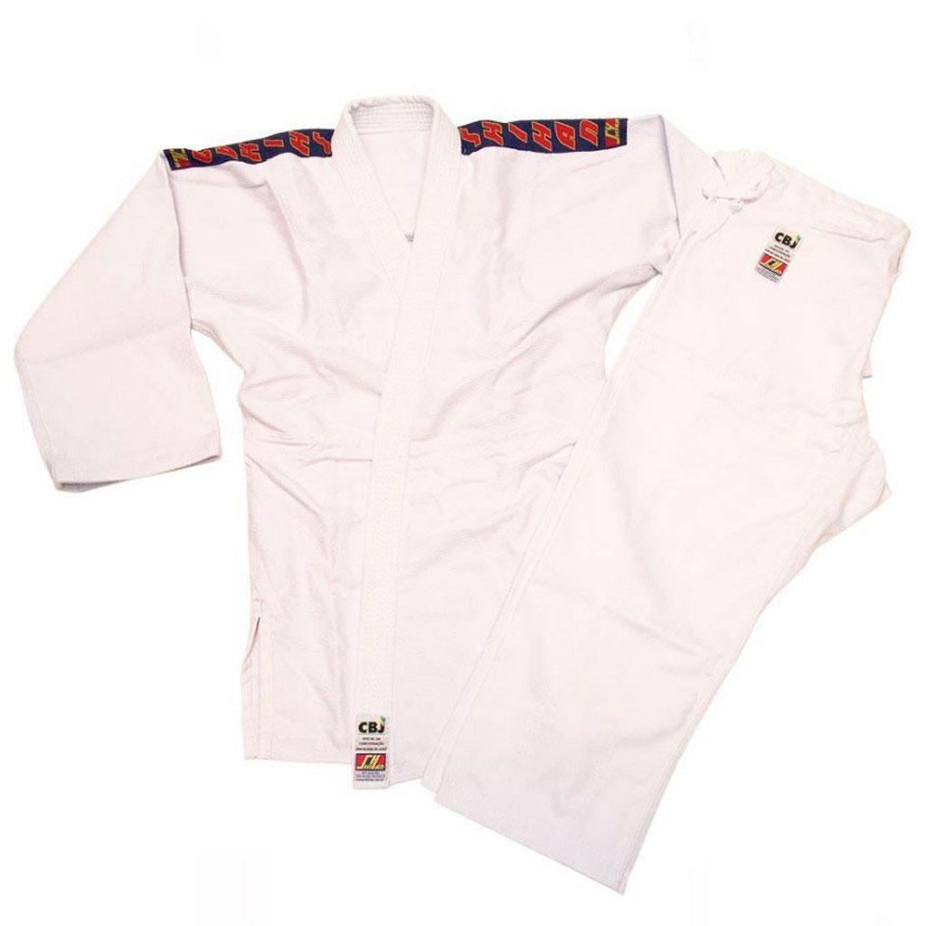 Kimono Judo Shihan Oficial CBJ Branco Adulto Unissex