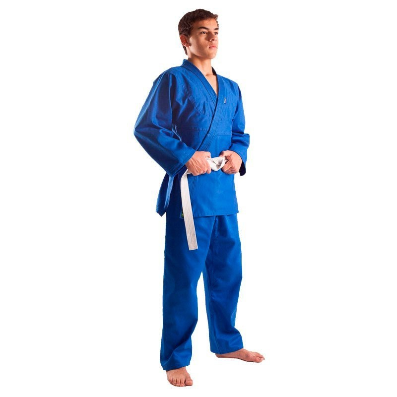 Kimono Judo Shiroi Brim Azul Adulto Unissex
