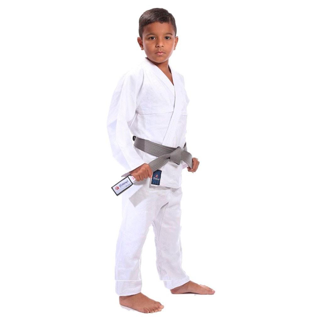 Kimono Torah Reforçado Flex Branco Infantil Com Faixa