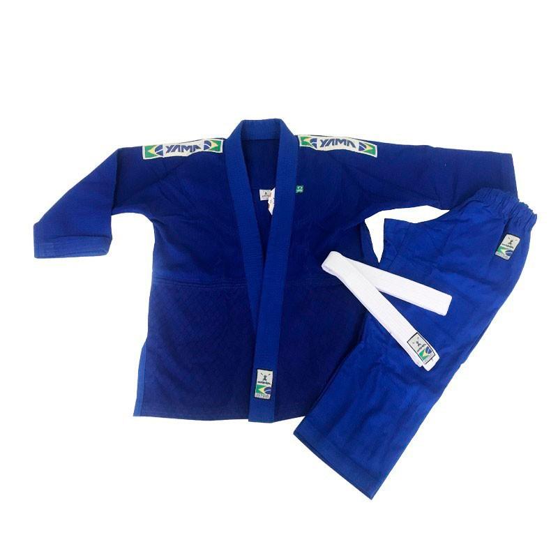 Kimono Judo Yama Trançado Light Azul Infantil