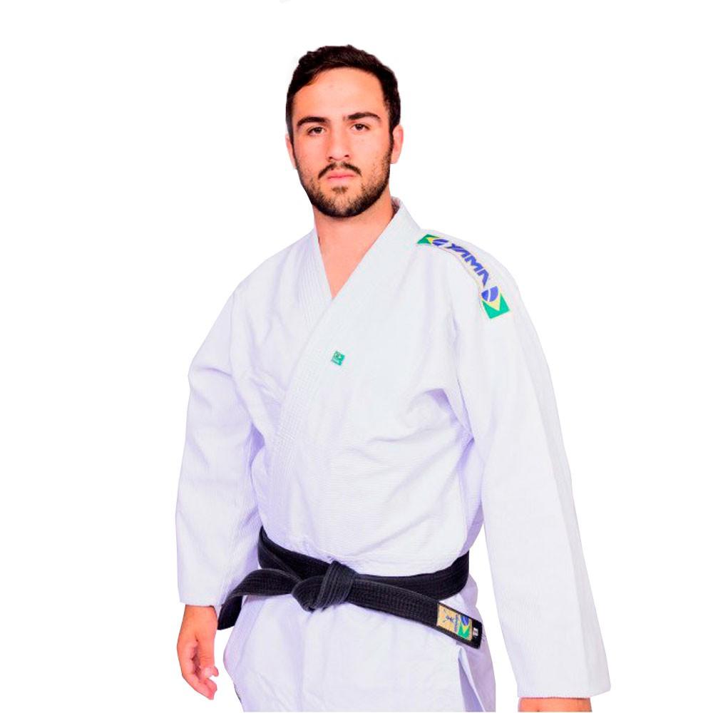 Kimono Judo Yama Trançado Light Branco Adulto Unissex