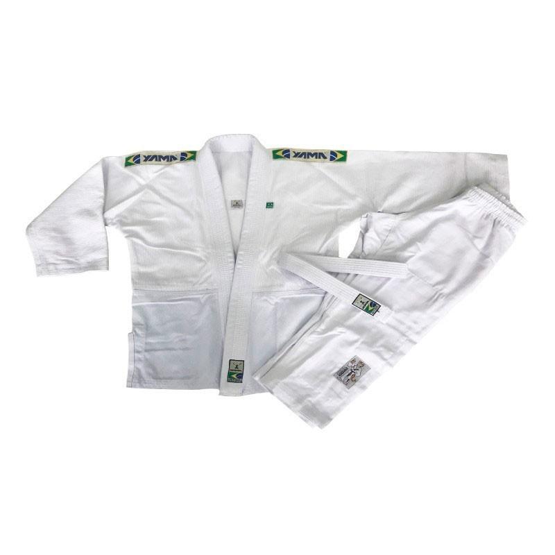 Kimono Judo Yama Trançado Light Branco Infantil