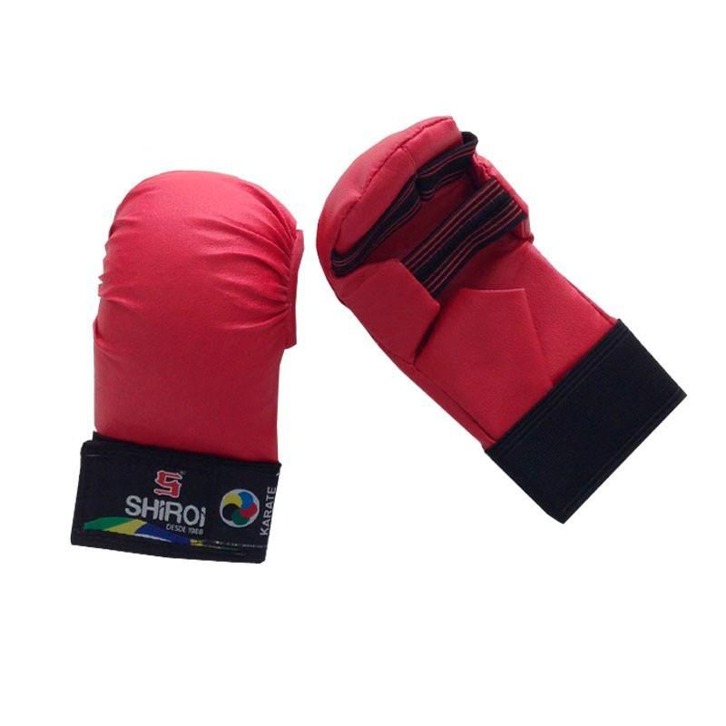 Luva Karate Shiroi Oficial CBK 5D Vermelha
