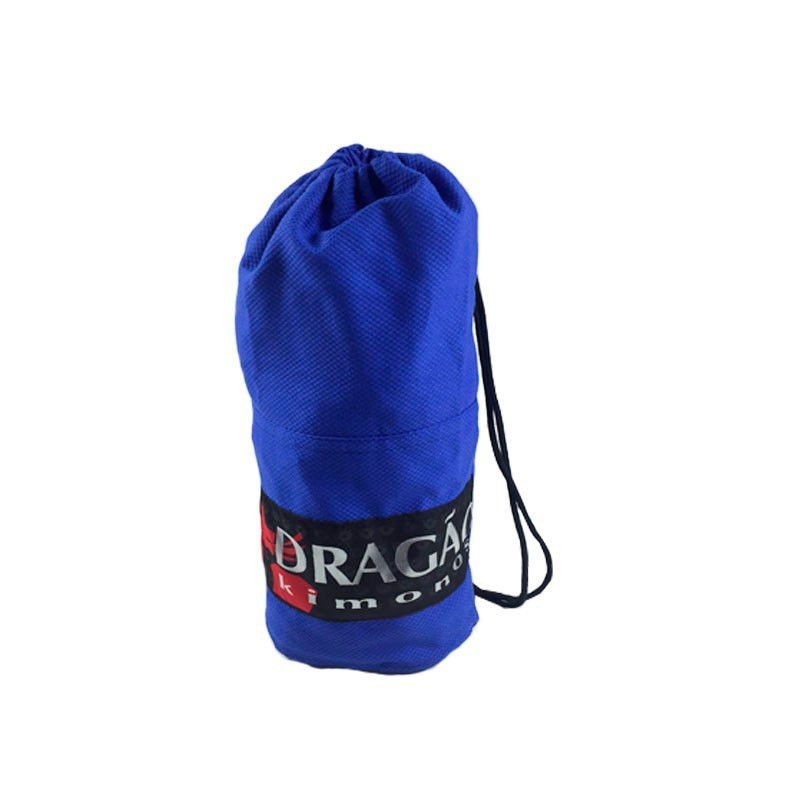 Mochila Sacola Tubinho Dragão Infantil Azul - patch preto