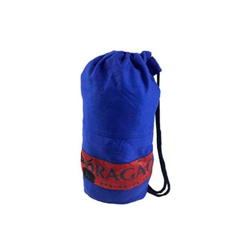 Mochila Sacola Tubinho Dragão Infantil Azul - patch vermelho
