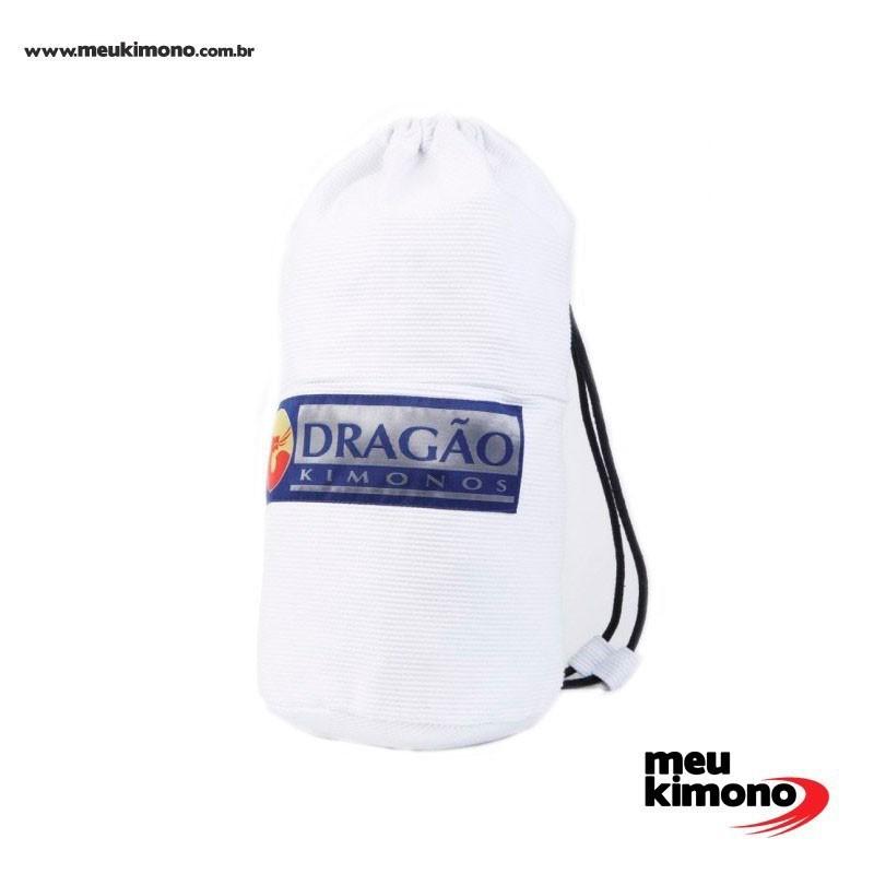 Mochila Sacola Tubinho Dragão Infantil Branco