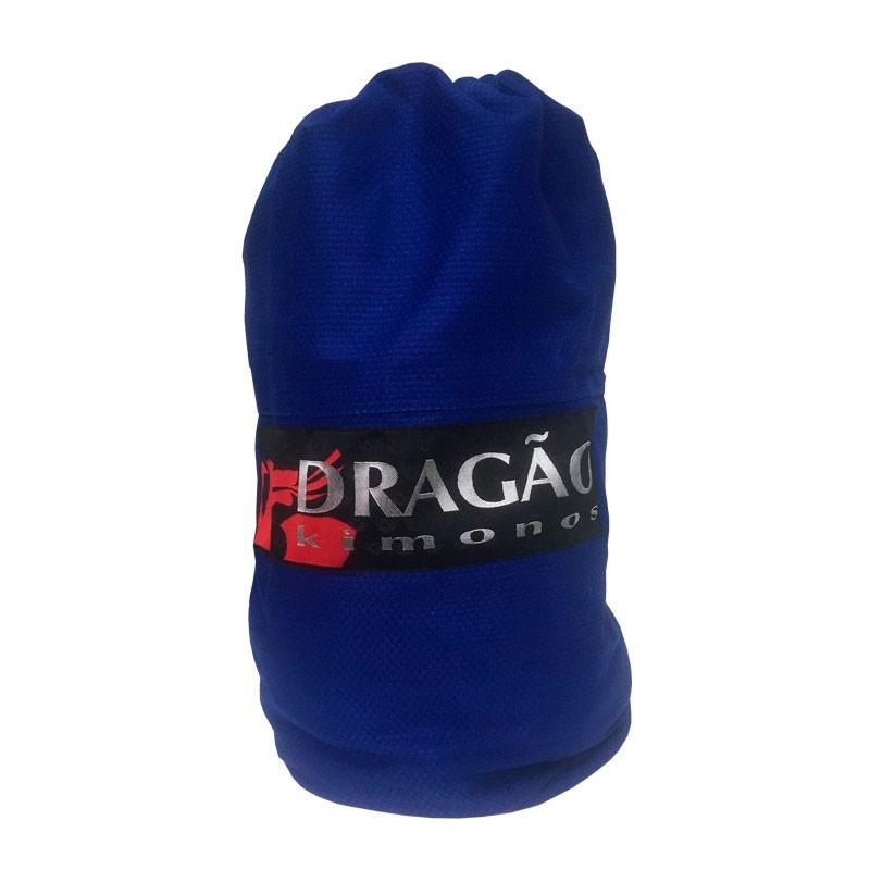 Mochila Sacola Tubo Dragão Azul - patch preto