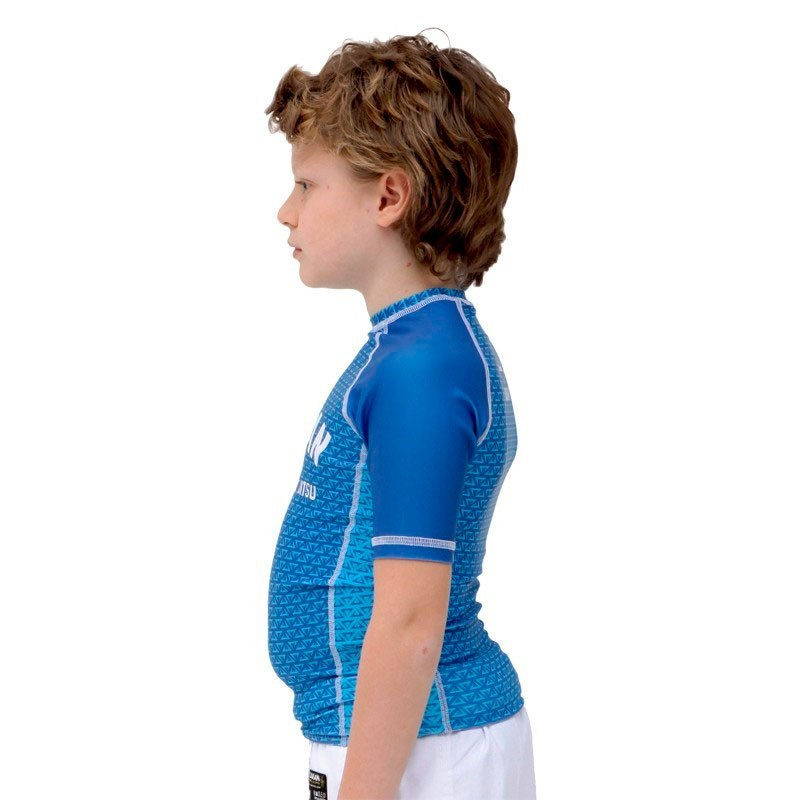 Rash Guard Lycra Vulkan First Azul Infantil