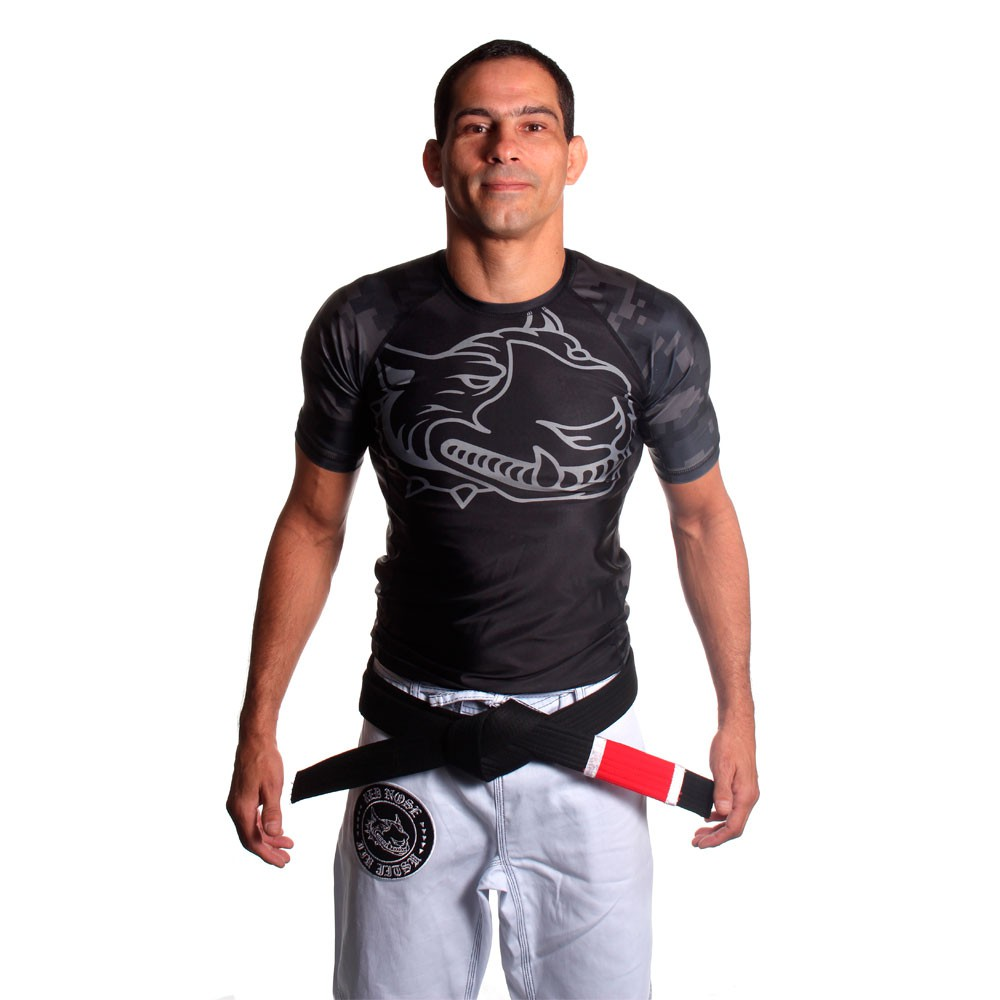 Rash Guard Red Nose Casual Manga Curta Preta Unissex