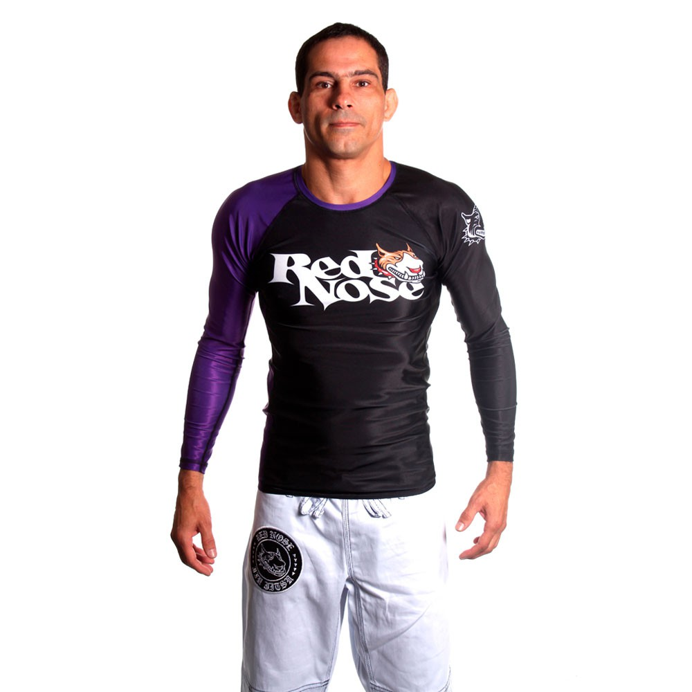 Rash Guard Red Nose Graduação Manga Longa Roxa Unissex