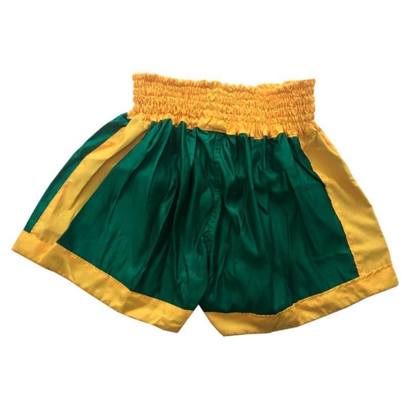 Short de Muay Thai Keiko Verde Amarelo Unissex