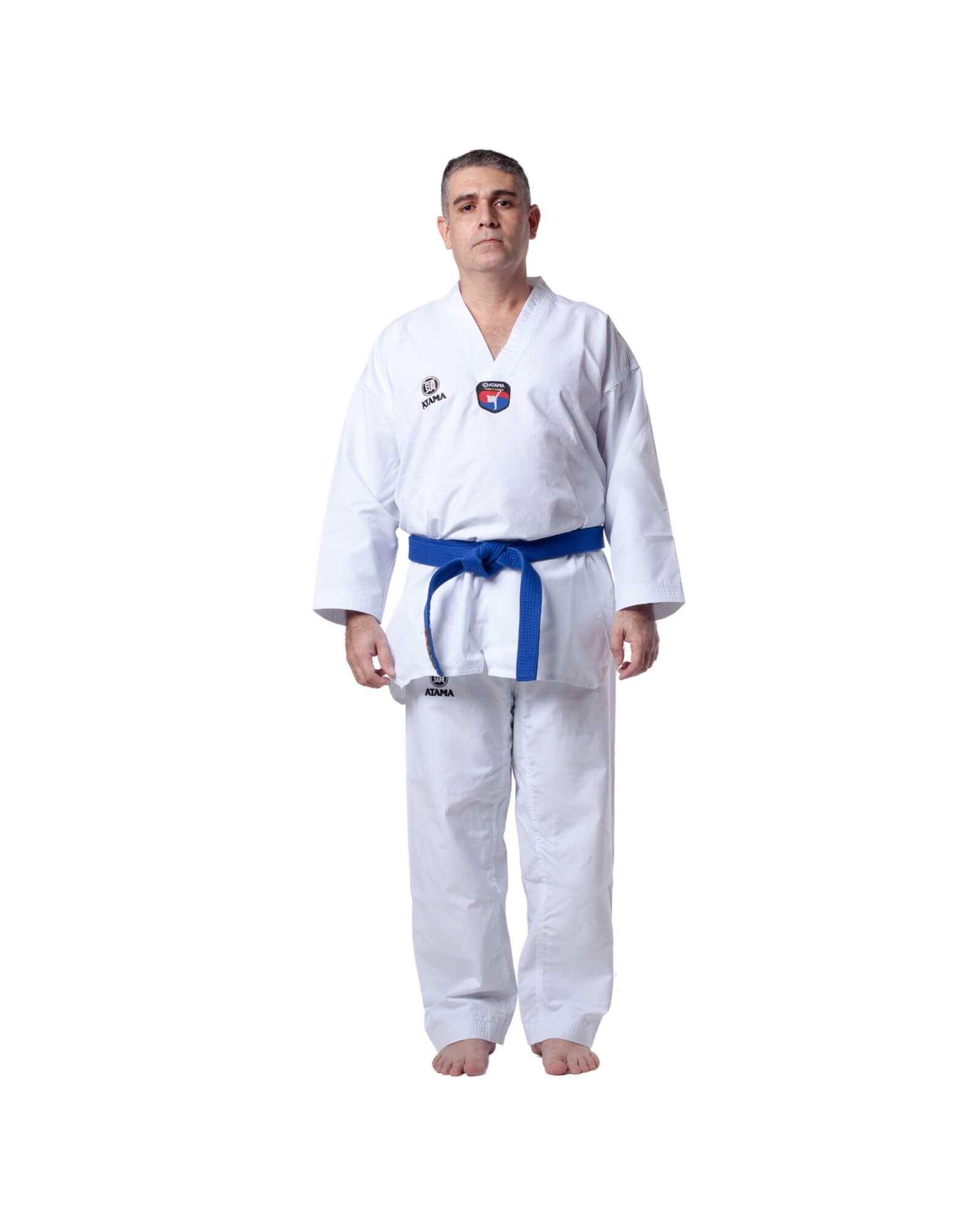 Taekwondo Dobok Advanced Branco Atama Adulto - Unissex
