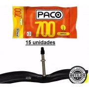 15un Câmara Bicicleta speed Paco 700X25C 48mm Bico Fino