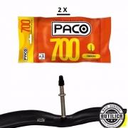 2unid Câmara Bicicleta speed 700X25C Valvula 48mm Bico Fino