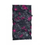 Bandana Free Force Bicycles Preto e Rosa
