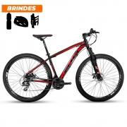 Bicicleta Aro 29 Ecos Onix 21v Câmbio Shimano Preto e Verm