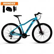 Bicicleta Aro 29 Ecos Onix 21v Freio A Disco Mecâ Azul Bebê