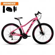 Bicicleta Aro 29 Ecos Onix 21v Freio A Disco Mecâ Rosa Neon