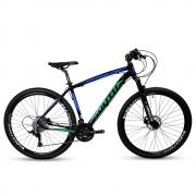 Bicicleta Aro 29 Mtb Alumínio South 27v Azul e Verde