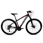 Bicicleta Aro 29 Mtb Alumínio South Legend 24v Preto e Rosa