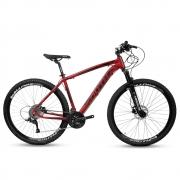 Bicicleta Aro 29 Mtb Alumínio South Legend 24v Vermelho e Pt