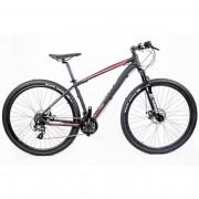 "Bicicleta Aro 29 Mtb Redstone Nitro 24V Preto Rosa 17"" Shima"