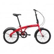 Bicicleta Dobrável Durban Eco+ Aro 20 6V Comfort Vermelho
