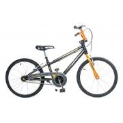 Bicicleta Infantil Aro 20 Apollo Preto e Laranja Nathor