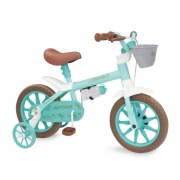 Bicicleta Infantil Nathor Antonella Verde Aro 12 Com Cesta