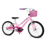 Bicicleta Infantil Nathor Aro 20 Menina Bella com Cesta