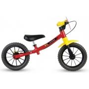 Bicicleta Infantil Nathor Balance Vermelha Aro 12 Equilíbrio