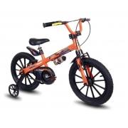 Bicicleta Infantil Nathor Extreme Aro 16 Preto e Laranja