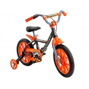 Bicicleta Infantil Nathor First Pro Aro 14 Preto e Laranja