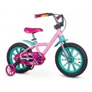 Bicicleta Infantil Nathor First Pro Aro 14 Rosa e Verde