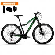 Bicicleta Mtb Aro 29 South Schon 21v Feminina Preto e Verde