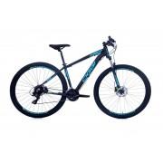 Bicicleta Mtb Oggi Aro 29 Hds Preto Azul e Limão Tourney 24v