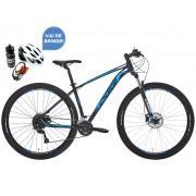 Bicicleta MTB Oggi Big Wheel 7.0 Preto/Azul/Branco Altus 18V