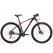 Bicicleta MTB Oggi Big Wheel 7.2 Preto/Pink/Vd 19 Alivio 18v