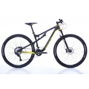 Bicicleta MTB Oggi Cattura Sport Cinza Amarelo 17 Deore 20v