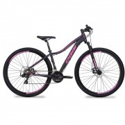 Bicicleta MTB Oggi Float Sport Preto/2 Pink 15,5 Tourney 21v
