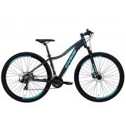 Bicicleta MTB Oggi Float Sport Preto/Tiffany 15,5 Tourney21v