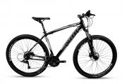 Bicicleta Mtb South Legend 21v Câmbio Shimano Pto e Branco