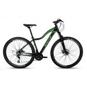 Bicicleta Mtb South Schon 21v Câmbios Shimanos Preto e Verde