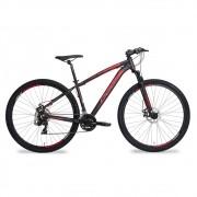Bicicleta Oggi 29 Hacker Sport 2020 Preto e Vermelho