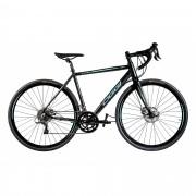 Bicicleta Oggi Aro 700 Velloce Disc Preto e Verde Azul
