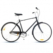 Bicicleta Urbana Retrô Giant Via 3 Preto Fosco
