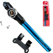 Bomba de Mão Para Bike Absolute Prime Com Manômetro Azul